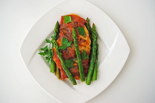 Chicken Saltimbocca with Asparagus 2