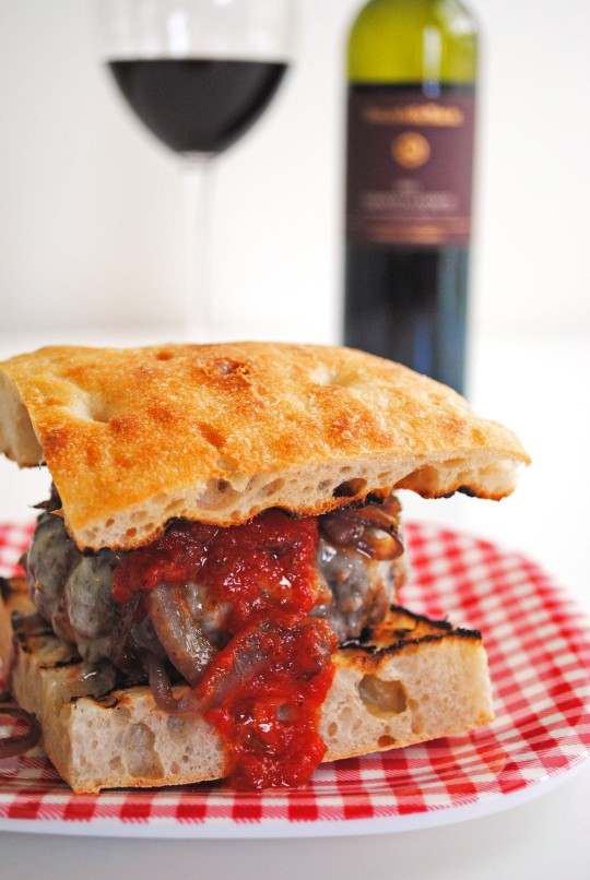 Chianti Burgers with Caramelized Onions 1