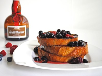 French Toast with Grand Marnier and Warm Berry Compote 2