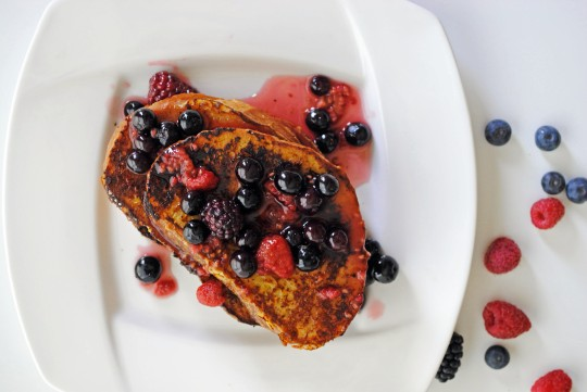 French Toast with Grand Marnier and Warm Berry Compote 3