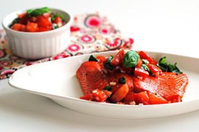 Oven Roasted Salmon with Fresh Tomato Relish 2