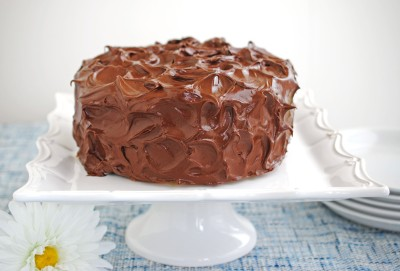 Yellow Cake with Chocolate Frosting 1