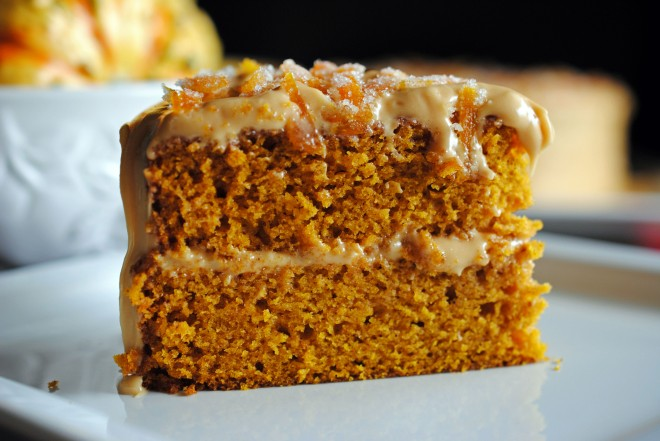 Pumpkin Spice Layer Cake with Caramel Cream Cheese Frosting | The Cake ...